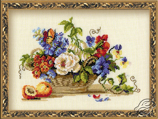 Basket Of Wonderful Flowers by RIOLIS - 864