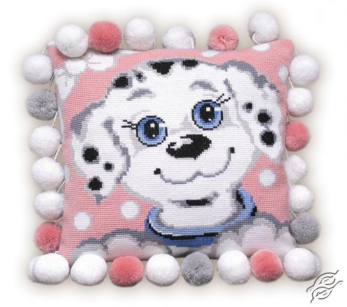 Cushion With Dalmatian Puppy by RIOLIS - 370