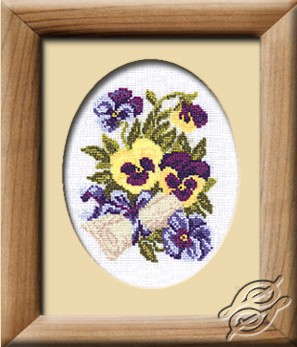 Pansies With A Letter by RIOLIS - 266