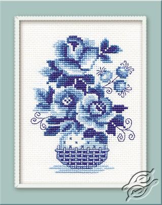 Blue-White Flowers I by RIOLIS - 840