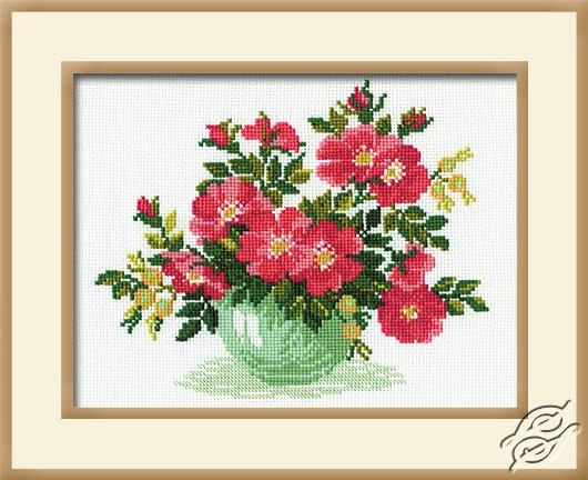 Wild Roses In Vase by RIOLIS - 871