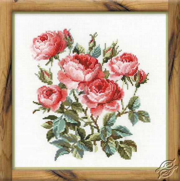Pink Roses by RIOLIS - 1046