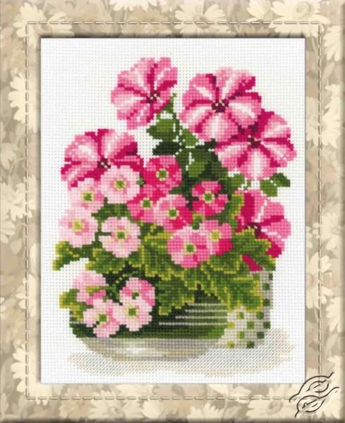 Petunias And Primroses by RIOLIS - 1115