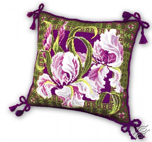 Cushion With Irises by RIOLIS - 657