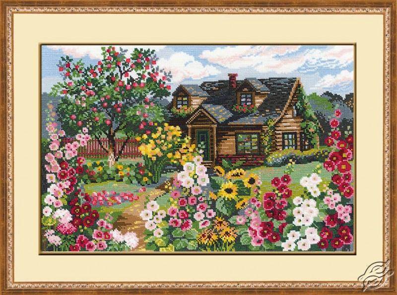 Cottage In Flower Garden by RIOLIS - 978