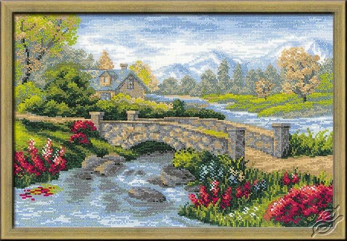 Summer - Bridge Over River by RIOLIS - 1078