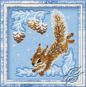 Christmas Squirrel by RIOLIS - 799