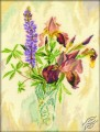 Irises And Lupines by RTO - M178