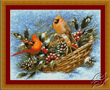 Holly Basket Cardinals by Kustom Krafts - 99733