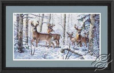 Woodland Winter, Deer by Dimensions - 35130
