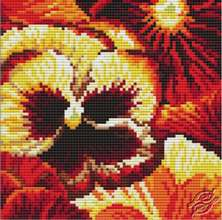 Cushion With Pansies II by Collection D'Art - 5095