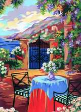 6.193 Patio Of The Summer Cottage by Collection D'Art - 6193