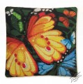 Cushion With Butterflies II by RIOLIS - 1119