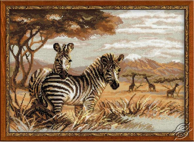 The Zebras In The Savannah by RIOLIS - 1143