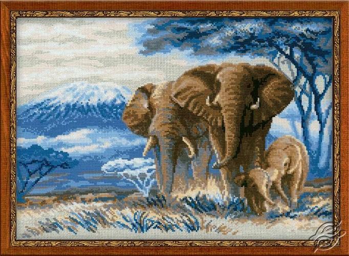 The Elephants In The Savannah by RIOLIS - 1144