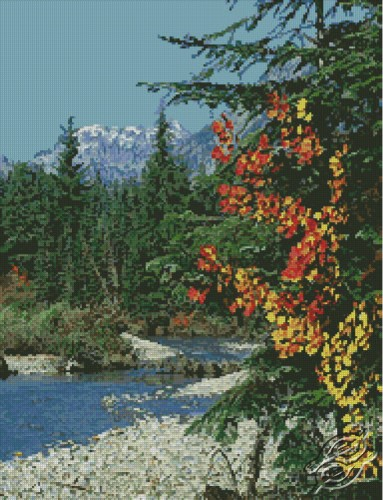 Forest Stream by Free Cross Stitch Online - GSF00004