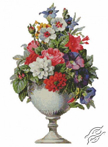 Flowers in a Vase by Free Cross Stitch Online - GSF00006