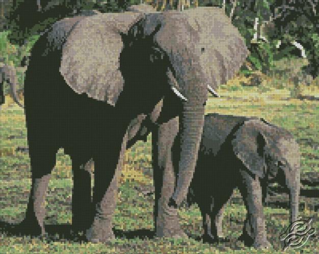 Elephants by Free Cross Stitch Online - GSF00009