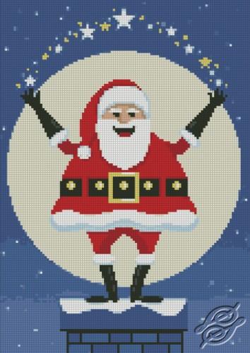 Santa On Chimney by Free Cross Stitch Online - GSF00010