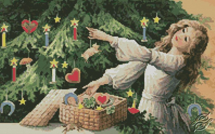 Decorating Tree by Free Cross Stitch Online - GSF00011