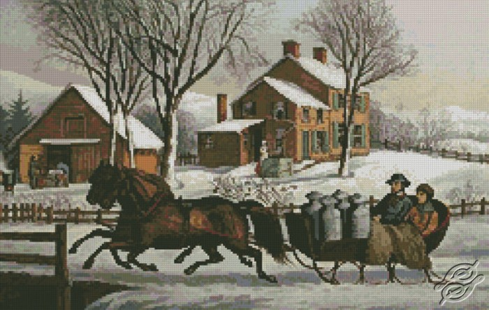 Winter Morning in the Country by Free Cross Stitch Online - GSF00014