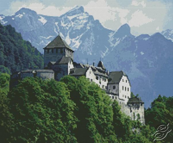 Castle on Mountain by Free Cross Stitch Online - GSF00017