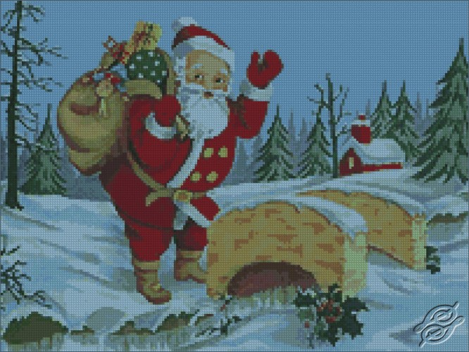 Santa Coming To Town by Free Cross Stitch Online - GSF00018