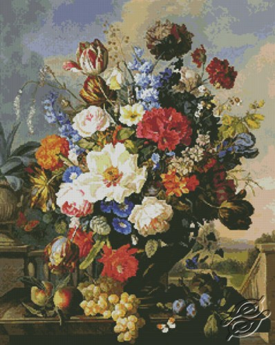 Flower Still Life by Free Cross Stitch Online - GSF00023