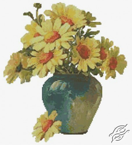 Yellow Daisies by Free Cross Stitch Online - GSF00033