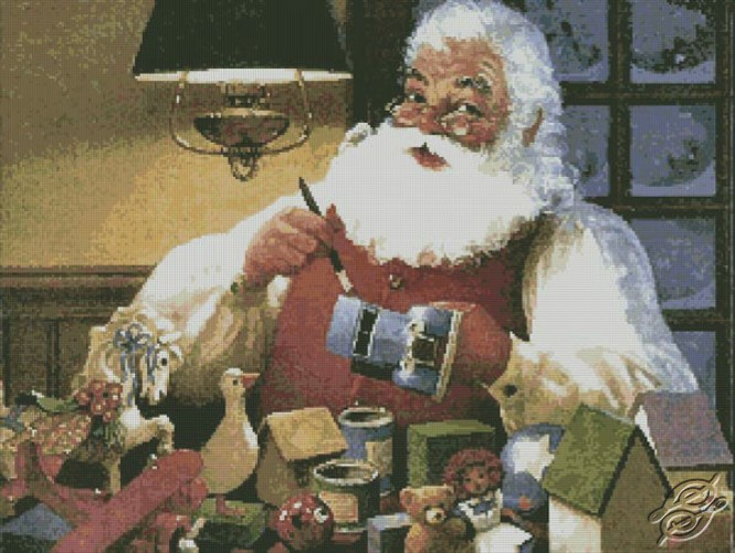 Santa Painting Toys by Free Cross Stitch Online - GSF00038