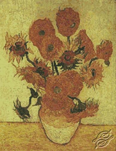 Fourteen Sunflowers by Free Cross Stitch Online - GSF00039