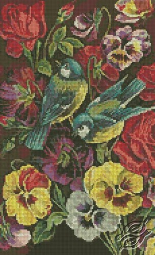 Flowers And Birds by Free Cross Stitch Online - GSF00047