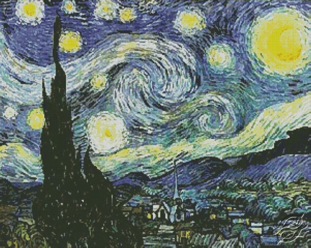Starry Night by Free Cross Stitch Online - GSF00050