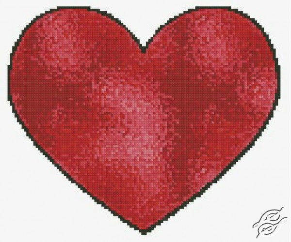 Stained Glass Heart by Free Cross Stitch Online - GSF00051