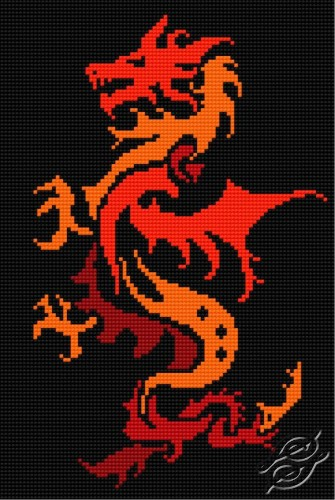 Dragon On The Black Canvas by HaftiX - patterns - 00064