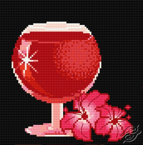 Wine-Glass With Lilac by HaftiX - patterns - 00065