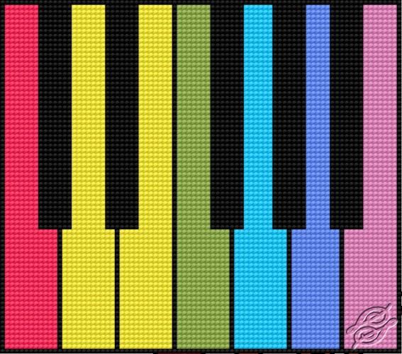Colourful Keyboard by HaftiX - patterns - 00096
