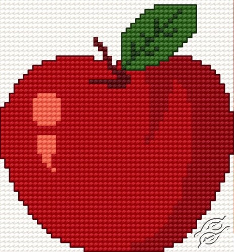 A Red Small Apple by HaftiX - patterns - 00185