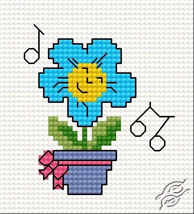 Happy Flower by HaftiX - patterns - 00259