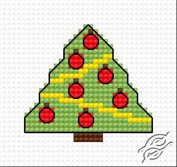 Christmas Tree V by HaftiX - patterns - 00270