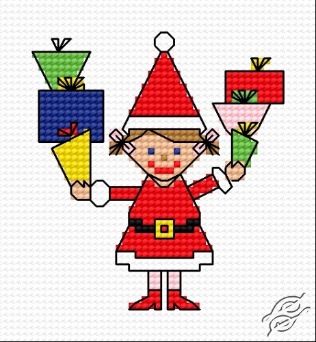 A Wife Of Santa With Gifts by HaftiX - patterns - 00292