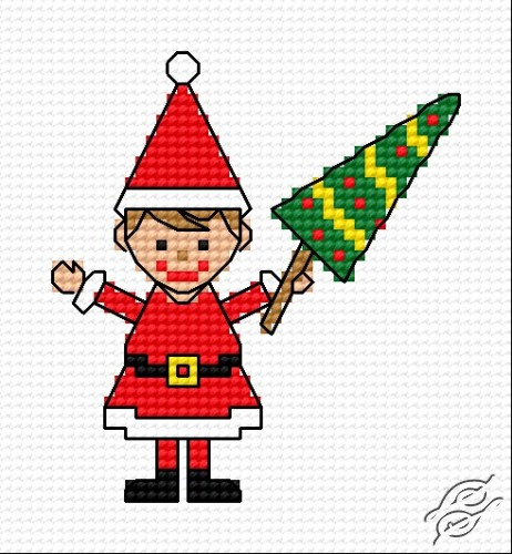 A Wife Of Santa With Christmas Tree by HaftiX - patterns - 00293