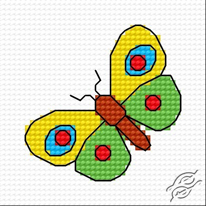 A Small Butterfly by HaftiX - patterns - 00295