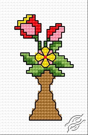 A Bunch Of Flowers by HaftiX - patterns - 00304