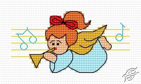 A Small Angel With Trumpet by HaftiX - patterns - 00342