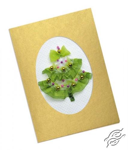 Elegant Christmas Tree Card by RIOLIS - 1188