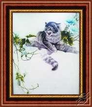 Kitten On A Tree Branch by Alisena - 1028