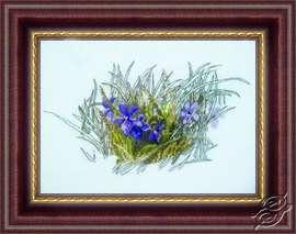 Field Flowers - Violets by Alisena - 1035
