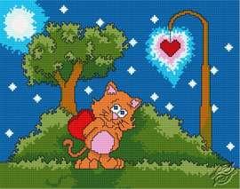 Valentine's Cat by HaftiX - patterns - 00428