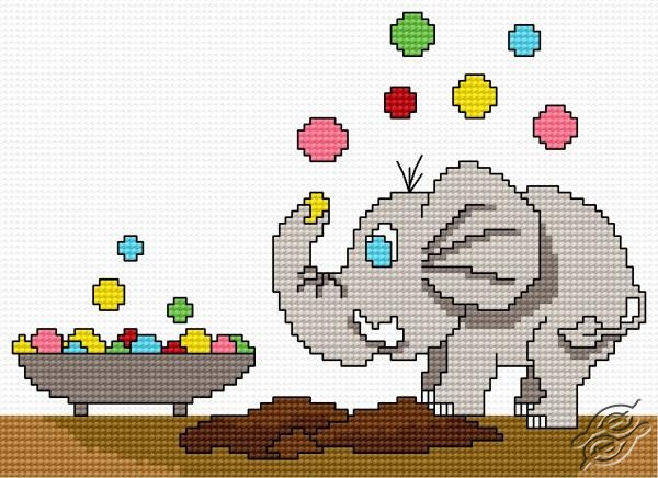 Fizzy And Bubbling Small Elephant by HaftiX - patterns - 00434